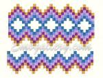 """Набор из 4-х дизайнов машинной вышивки """"Шахматный орнамент"""""""