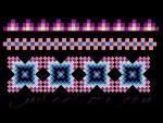 """Набор из 7 дизайнов машинной вышивки """"Шахматный орнамент""""_3"""