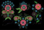 Коллекция из 4 дизайнов машинной вышивки