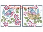 Коллекция из четырех  дизайнов машинной вышивки