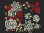 Коллекция из 13 дизайнов машинной вышивки автора Valery