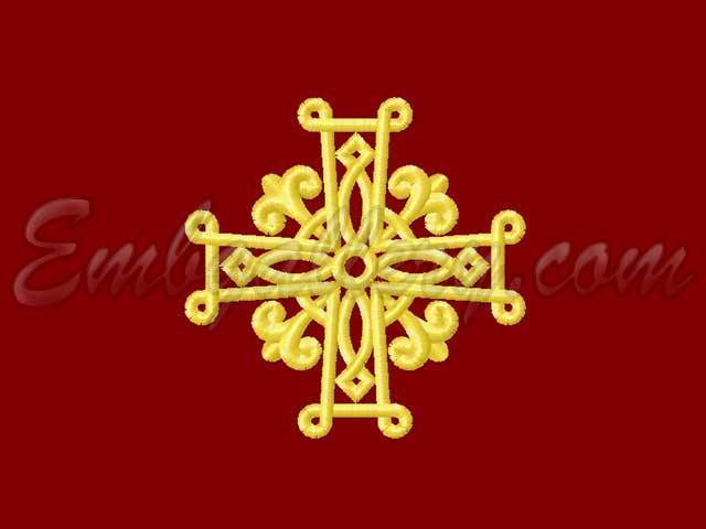 Машинная вышивка православного креста