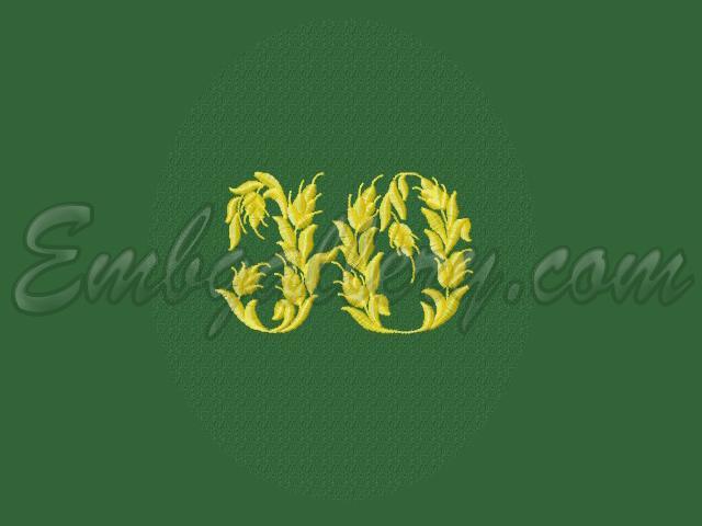 Ажурная вышивка букв