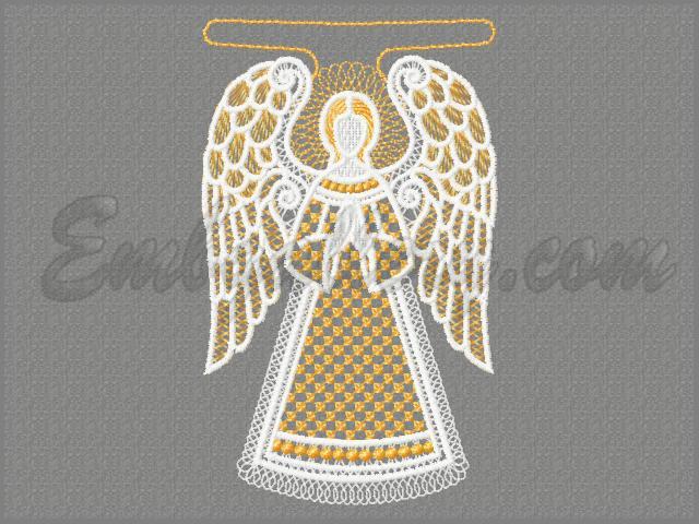 Дизайн ангел для машинной вышивки