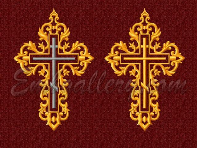 Машинная вышивка православные дизайны