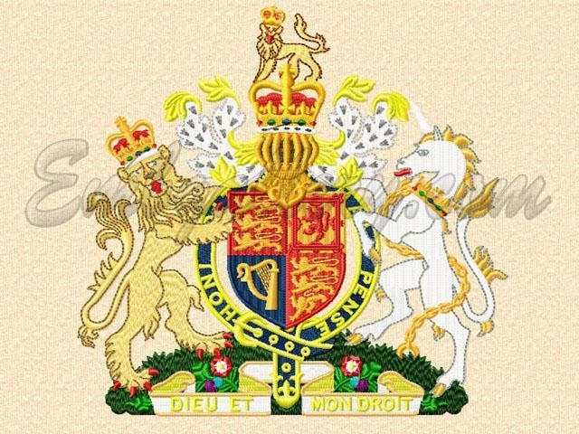 Дизайн машинная вышивка герб