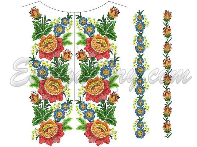 Машинная вышивка рушник дизайн