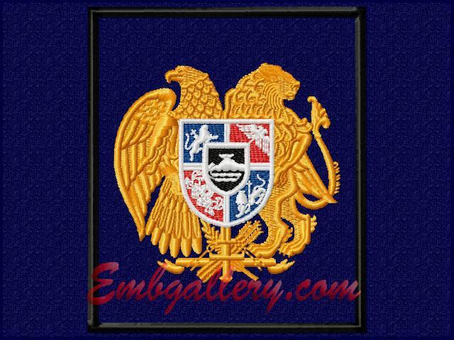 Дизайн машинной вышивки герба