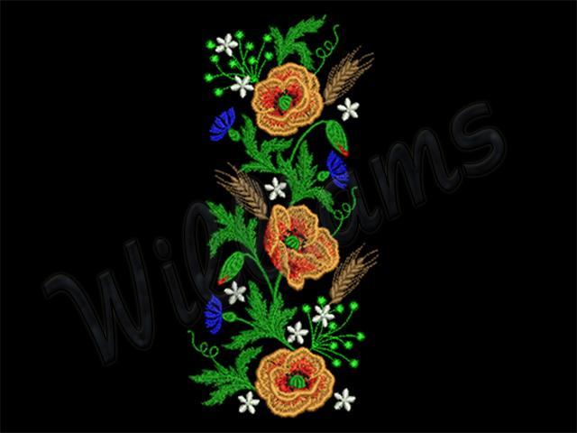 Дизайны для вышивки с цветами 2