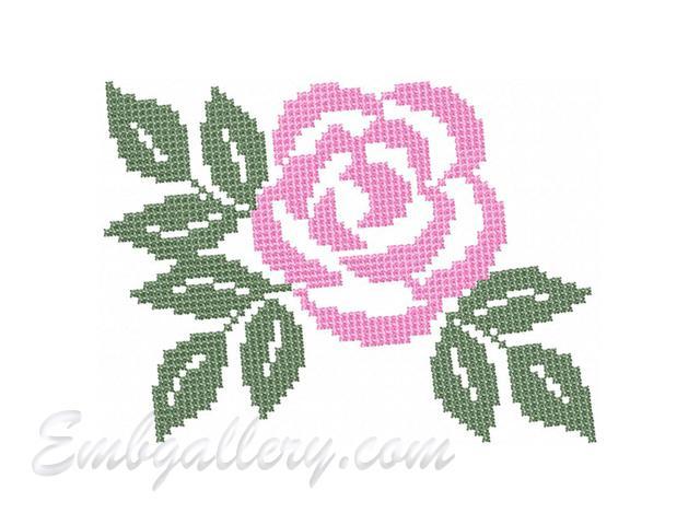 Крестиком machine embroidery