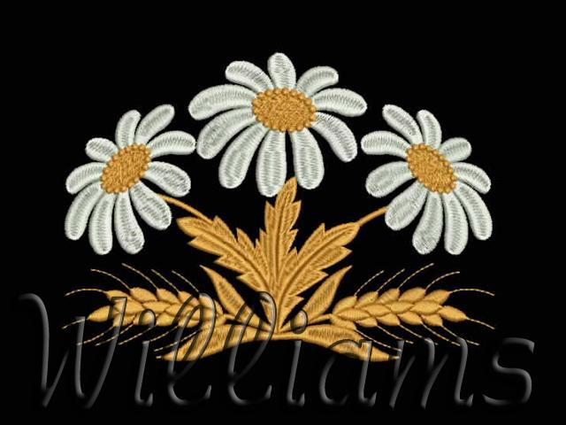 Дизайн для машинной вышивки ромашки 14