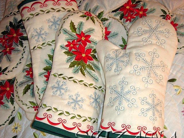 Машинные вышивки к новому году