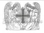 """Два ангела""_179x230mm"