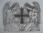 """Два ангела""_191x149mm"