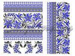 """Вышиванка """"Голубые цветы"""""""