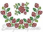 """""""Розы и бутоны""""_горловина"""