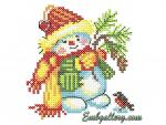 Снеговик крестиком (бесплатно)