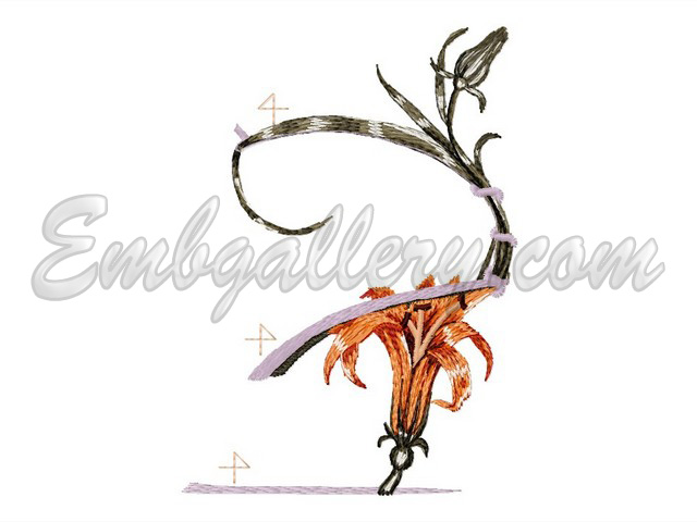 """Туфелька для феи"" | Machine embroidery design"
